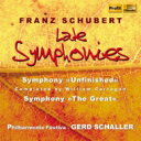 Composer: Sa Line - 【送料無料】 Schubert シューベルト / 交響曲第8番『未完成』(キャラガン校訂4楽章版)、第9番『グレート』 シャラー&フィルハーモニー・フェスティヴァ(2CD) 輸入盤 【CD】