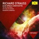 作曲家名: Sa行 - Strauss, R. シュトラウス / 『ツァラトゥストラはかく語りき』、『死と変容』 シノーポリ&ニューヨーク・フィル 輸入盤 【CD】