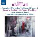 作曲家名: Ra行 - Respighi レスピーギ / ヴァイオリンとピアノのための作品集第1集 ベルネコーリ、ビアンキ 輸入盤 【CD】