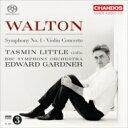 Composer: A Line - 【送料無料】 Walton ウォルトン / 交響曲第1番、ヴァイオリン協奏曲 ガードナー&BBC響、リトル 輸入盤 【SACD】