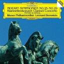 作曲家名: Ma行 - Mozart モーツァルト / 交響曲第25番、第29番、クラリネット協奏曲 バーンスタイン&ウィーン・フィル、シュミードル 【SHM-CD】