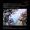 Glazunov グラズノフ / Violin Concerto: E.christodoulou(Vn) Carewe / Bournemouth So +dvorak: Concerto, Sibelius 輸入盤 【CD】