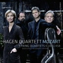 Composer: Ma Line - 【送料無料】 Mozart モーツァルト / 弦楽四重奏曲第14番、第17番『狩』 ハーゲン四重奏団(2014) 輸入盤 【SACD】