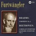 作曲家名: Ha行 - Brahms ブラームス / ブラームス:交響曲第4番、ベートーヴェン:序曲集 フルトヴェングラー&ベルリン・フィル、ウィーン・フィル(1948、47、54) 【CD】