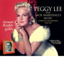Artist Name: P - 【送料無料】 Peggy Lee ペギーリー / Swingin' Brightly And Gently / With Jack Marshall's Music 輸入盤 【CD】