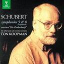 作曲家名: Sa行 - Schubert シューベルト / 交響曲第8番『未完成』、第5番、『魔法の竪琴』序曲 トン・コープマン&オランダ放送室内管弦楽団 【CD】