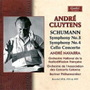 Schumann シューマン / 交響曲第3番『ライン』、第4番、チェロ協奏曲 アンドレ・クリュイタンス&ベルリン・フィル、フランス国立放送..
