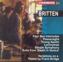 Orchestral Music - 【送料無料】 Britten ブリテン / [ブリテン:作品集]4つの海の間奏曲とパッサカリア、ヤング・アポロ他 ハンドレー他/アルスター管弦楽団他 輸入盤 【CD】