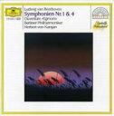 作曲家名: Ha行 - Beethoven ベートーヴェン / 交響曲第1, 4番 カラヤン&ベルリン・フィル 輸入盤 【CD】