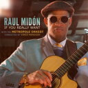 藝人名: R - 【送料無料】 Raul Midon ラウルミドン / If You Really Want 輸入盤 【CD】