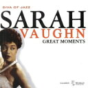 Artist Name: S - Sarah Vaughan サラボーン / Great Moments 輸入盤 【CD】
