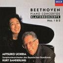 Beethoven ベートーヴェン / ピアノ協奏曲第1番、第2番 内田光子、クルト・ザンデルリング&バイエルン放送交響楽団 【Hi Quality CD】
