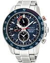 セイコー スポーチュラ ソーラーパーペチュアル アラームクロノグラフ 腕時計 SSC355P1