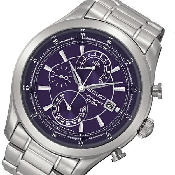 セイコー SEIKO クオーツ クロノ メンズ 腕時計 SPC163P2 ネイビー
