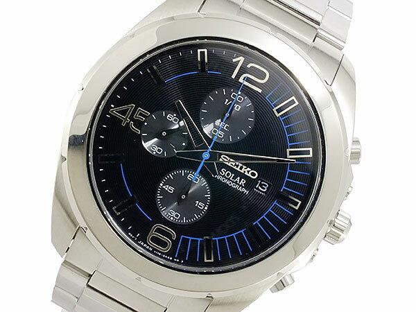セイコー SEIKO ソーラー メンズ クロノ 腕時計 SSC213P1