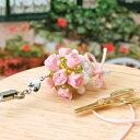 ビーズキット  バラの花束ストラップ