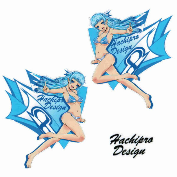 Hachipro Design ハチプロデザイン HPY-003S 新☆ヤマハたん サイド2 サマーバージョン ステッカー 左右セットバイク・車・デカール・シール・YAMAHA・山葉・夏 05P05Nov16