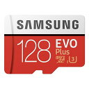 フラッシュカード Micro SD UHS1(U3) Class10 128GB SAMSUNG MB-MC128GA EVO シリーズ UHS-1 U3 R 100MB/s W 90MB/s SDアダプタ付き 英語パッケージ 1年保証