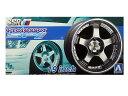 1/24 プラモデル用アオシマ タイヤ&ホイールSSR プロフェッサー SP1 19インチ
