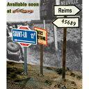 サイバーホビー 1/6 WW.II 道路標識セット