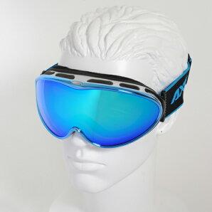【最安値チャレンジ】★15-16NEWモデルアックスAX985-WCMBUスノーボードゴーグルスキーゴーグルAXEアックススノーゴーグル2015-2016ダブルレンズメガネ対応曇り止め機能付きヘルメット対応