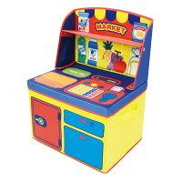 【おもちゃ箱】ままごと収納ボックスマーケット/14761・キッチン/14762【在庫品】【送料無料】【D】【UC】【ママゴト収納BOXおもちゃ収納子供キッズケース畳める】