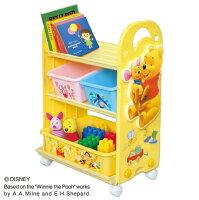 【おもちゃ収納収納ラック収納ケースお片付け子供部屋収納ボックス錦化成くまのプーさんトイ・ステーションピップ】
