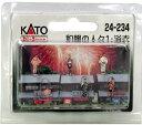 【KATO/カトー/関水金属】和服の人々1・浴衣鉄道模型ストラクチャージオラマレイアウト[▲][ホ][F]