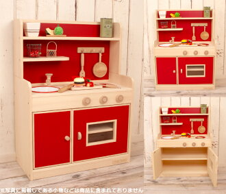 Very popular! Wooden house kitchen popular color スタンダードハイ type (your two-color) wood craftsman handmade wood toys toy play house kitchen Christmas 10P01Sep13