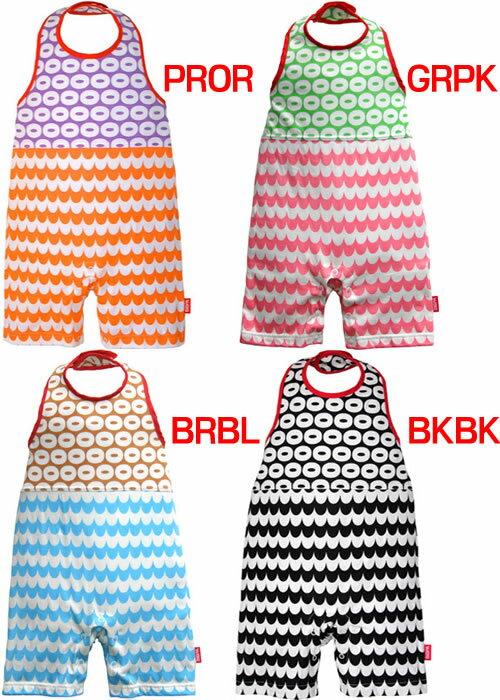ビブパ(bibpa DONUT&WAVE) b-003 (キッズ ベビー 赤ちゃん 新生児 ロンパース ベビー服 ホルターネック型ロンパース カバーオール 子供)