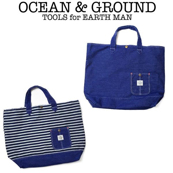 OCEAN&GROUND(オーシャンアンドグラウンド)レッスンバッグBLUEBLUE(レッスンバッグ