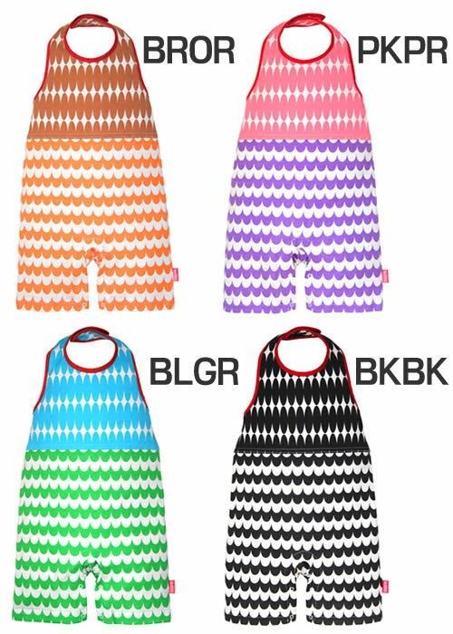 ビブパ(bibpa SHINE&WAVE) b-011 (キッズ ベビー 赤ちゃん 新生児 ベビー服 ホルターネック型ロンパース カバーオール ロンパース 子供 夏 プレゼント)