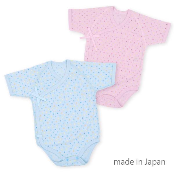 新生児メルマ加工ロンパス肌着・日本製(ベビー肌着新生児肌着赤ちゃんベビー下着肌着ロンパースベビー服子