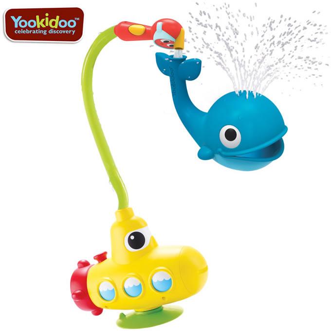 ユーキッド(yookidoo)どこでもシャワー どこでも噴水くじらお風呂用おもちゃ(キッズベビー赤ち