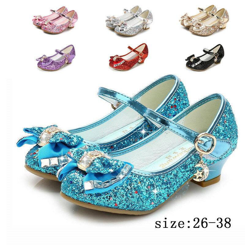 フォーマルシューズフォーマル靴子供靴女の子用キッズプリンセスシューズフォーマルハイヒールリボンきらき