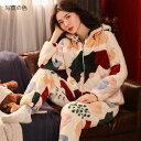 ショッピングもこもこ パジャマ レディース 冬 ルームウェア 部屋着 厚手 パジャマ 可愛い ふわふわ モコモコ ふわもこ 冬服 トップス + ロングパンツ 上下セット 長袖 かわいい M L XL XXL