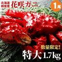【母の日ギフト】 花咲ガニ1.7kg×1尾 いくら醤油漬け1...