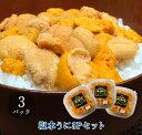 塩水バフンウニ100g 3パックセット【北海道産 うに お土産 贈り物 ギフト プレゼント