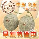 夕張メロン 夕張市農協共撰品 良品中玉(約1.3kg) 2玉...
