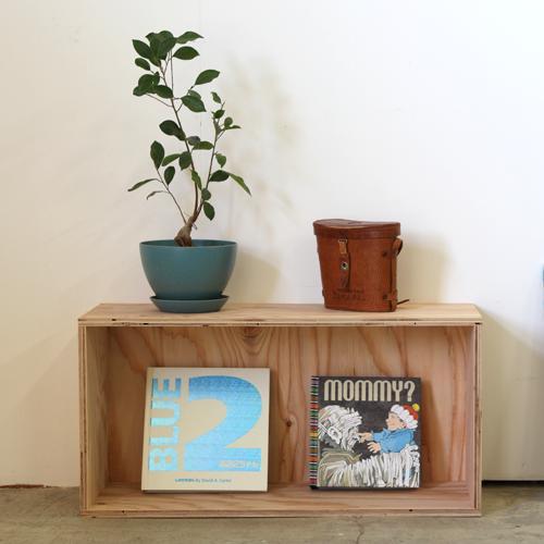 おしゃれな WOOD BOX・多機能収納ボックス・木材・ウッド・木箱・木製 720[無塗装・ナチュラル・ブラック・ホワイト]1個
