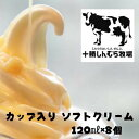 【冷凍便】十勝しんむら牧場 ソフトクリーム カップ入 8個セット 放牧牛乳使用