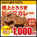 送料無料 新発売 極上とろうまビーフカレー 今だけ増量 3食入 カレー レトルト 北海道