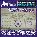 北海道産 おぼろづき 玄米 (30Kg)【送料無料】【北海道米】【28年産】【1等米】