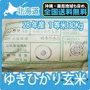 北海道産ゆきひかり 玄米 (30Kg)【送料無料】【一等米】【北海道米】【平成28年産】