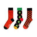 Happy Socks ハッピーソックスSinging MERRY CHRISTMAS ギフトボックス レディース【北欧雑貨】