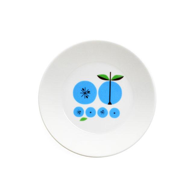 Lotta Kuhlhorn ロッタ・キュールホルン プレート1 (Apple/ブルー/135mm)【北欧雑貨】