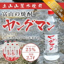 焼酎甲類 1ケース(6本) 【激安】 富山の甲類焼酎 25% ヤングマン 2.7L 【同梱不可】【業務用向け】 焼酎甲類