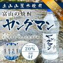 焼酎甲類 1ケース(4本) 【激安?! お買い得】 富山の甲類焼酎 20% ヤングマン 4L 【同梱不可】【業務用向け】 焼酎甲類