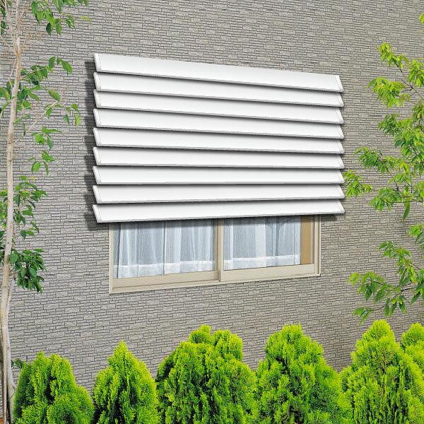 YKKAP窓まわり 目隠し ウインバイザー アルミタイプ:[幅2020mm×高765mm]【YKK】【YKK目隠し】【防犯】【サッシ】【アルミサッシ】【目隠し】【日除け】【日よけ】【採光】【窓ガラス】 窓外部からの視線や日差しを遮ります。取付方法も簡単で浴室窓の覗き見対策などの防犯に人気があります。