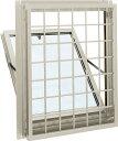 YKKAP窓サッシ 装飾窓 エピソード[Low-E複層防音ガラス] 面格子付内倒し窓 井桁格子[Low-E透明5mm+透明3mm]:[幅730mm×高370mm]